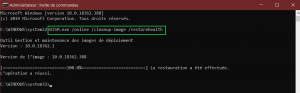 DISM.exe / Online / Cleanup-image / Restorehealth