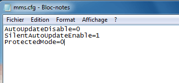 Edit the mms.cfg file in the Flash folder