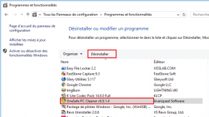Uninstall OneSafe PC Cleaner